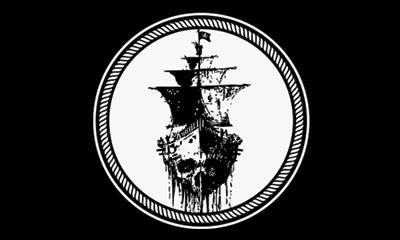 black sea ship xft pirate flag lightweight polyester