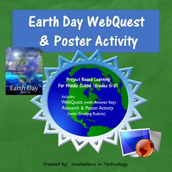 fun facts  earth day webquest poster activity tpt
