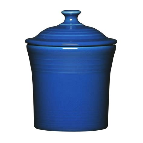 fiesta utility jam jar kitchen canister blue jam jar