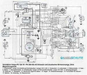 Vespa Px 200 Wiring Diagram