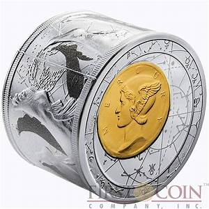 Niue Island 3 oz Fortuna Redux Mercury Cylinder Silver Coin $25 Proof 2014 NEW edition!!! Niue