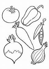 Vegetables Coloring Pages Veggies Fruits Vegetable Printable Parentune Preschoolers Worksheets sketch template