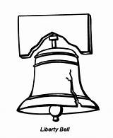 Coloring Bell Liberty Popular sketch template