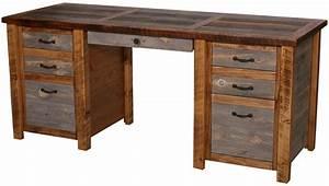 natural barnwood executive desk With barn board office desk