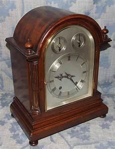 Antique, Ting, Tang, Striking, Mahogany, Bracket, Clock, W, U0026, H, 47, For, Sale
