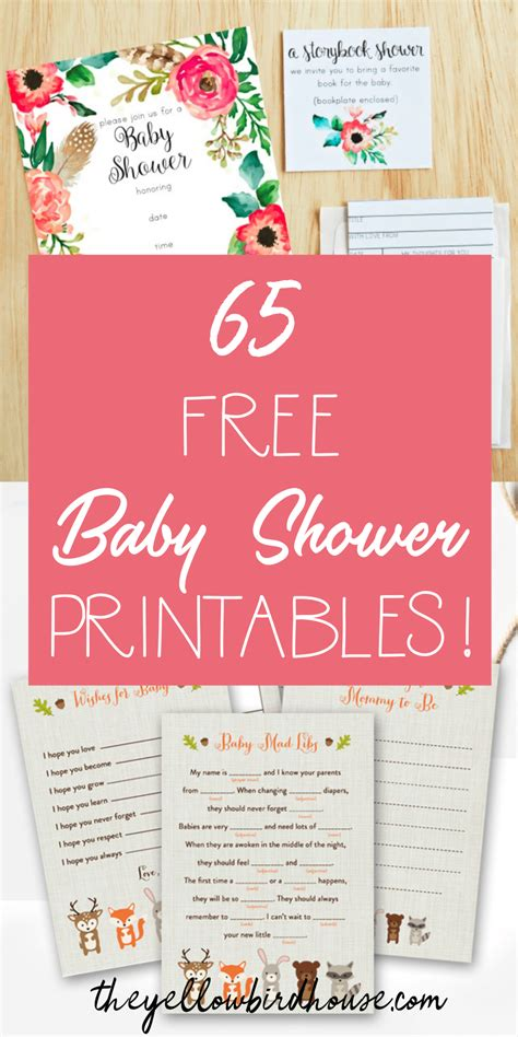 Free Baby Shower Printable - 65 free baby shower printables for an adorable
