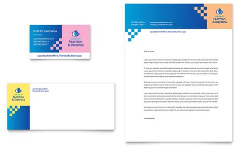 dietitian business card letterhead template design