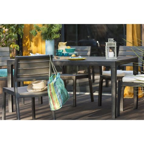 leroy merlin chaise awesome table de jardin plastique gris anthracite photos