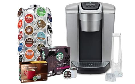 This keurig coffee maker features five brew sizes, can brew strong or iced coffee, plus has a hot water option. Keurig K-Elite Coffee Maker Bundle Just $131 after Kohl's Cash (Reg $270) - Today Only!