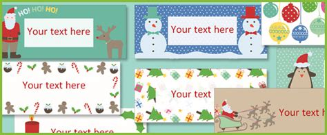 editable christmas labels  early years primary