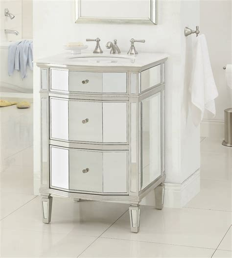 adelina   mirrored bathroom vanity imperial white