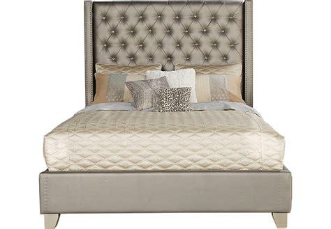 sofia vergara queen bed set sofia vergara paris silver 3 pc upholstered queen bed