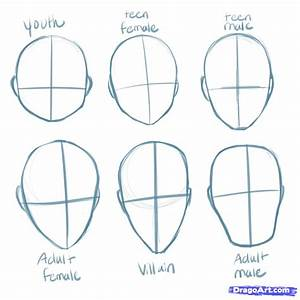 anime+step+by+step+drawing+head | How to Draw Manga Heads ...