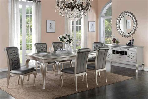 silver formal dining table room set affordable home