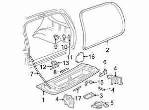 Chevrolet Blazer Tailgate Handle  Inner Release