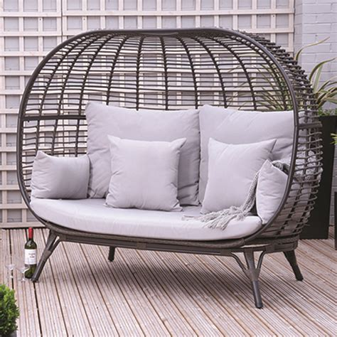 pacific lifestyle tobago outdoor double egg chair