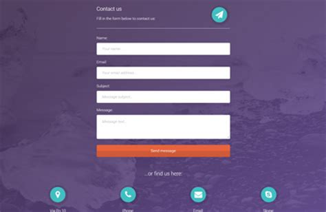 Contact Us Template Free by Contact Us Php Template Gallery Template Design Ideas