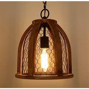 Vintage-style, Farmhouse, Kitchen, Pendant, Light, Antique, Brown, -, Pendant