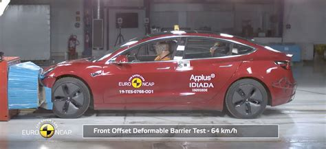 Get Tesla 3 Scores Perfect Safety PNG