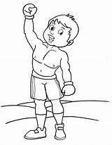 Boxing Coloring Sheets Boxer Gloves Printable Template Winner sketch template