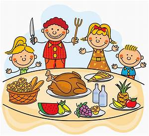 Family at thanksgiving dinner clipart clipartxtras ...