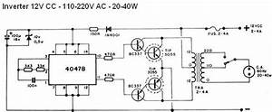 40w Inverter Circuit 12vdc To 110  220vac