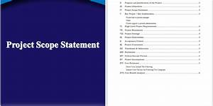 project scope statement template project scope statement template word templates for free