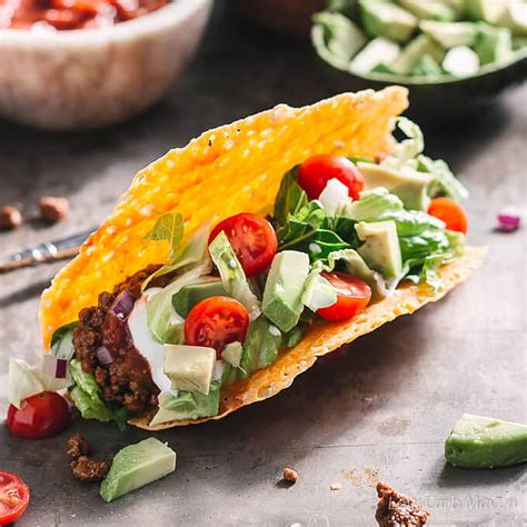 beef ground carb low keto taco tacos recipe easy dinner salad recipes mexican dishes diet food bell foods shell seasoning
