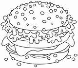 Coloring Printable Hamburger Sandwich Stomach Smaklig Stor Sanduiche Grande Illustrations Tasty 30seconds Hamburgare Cheeseburger Cheese Apetitoso Aptitretande Gostoso Smoergas Smakelijk sketch template