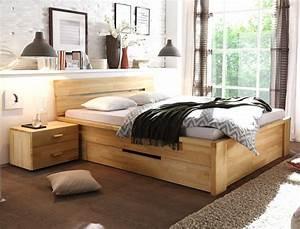 Bett Mit Nachttisch : massivholzbett caspar nachttisch kernbuche ge lt stauraumbett bett wohnbereiche schlafzimmer ~ Frokenaadalensverden.com Haus und Dekorationen