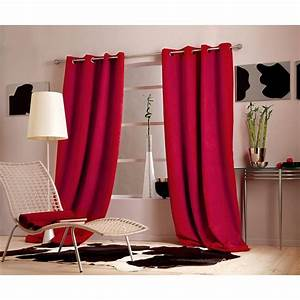 Rideau Voilage Rouge : rideau rouge bordeaux ~ Teatrodelosmanantiales.com Idées de Décoration