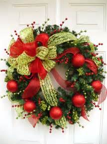 christmas wreath holiday wreath large wreath wreath with bow ever