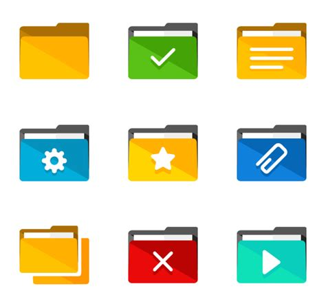 A Pack Of 64 New Folder Icons Folder Icons 14 123 Free Vector Icons
