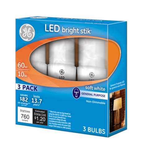 ge introduces led light bulb 3 pack 10 dollars