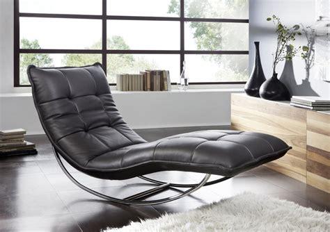 chaise de relaxation chaise longue de relaxation rockme xl en cuir