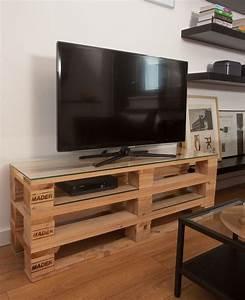 Meuble Tv Tendance : 1001 id es meuble tv palette le recyclage en cha ne ~ Premium-room.com Idées de Décoration
