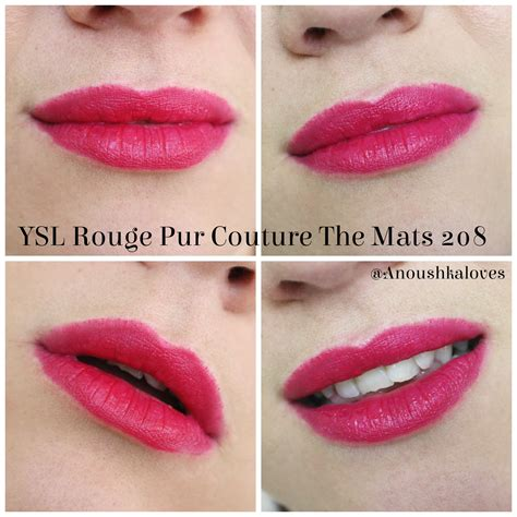 Ysl Pur Couture The Mats - lipstick week ysl pur couture the mats 208