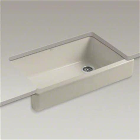 kohler k 6488 g9 whitehaven self trimming apron front single basin sink sandbar faucetdepot