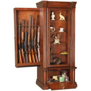 Build Your Own Curio Cabinet by Hidden Gun Compartment In Furniture Stashvault
