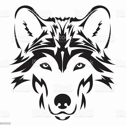 Head Vector Background Wolf Face Element Isolated