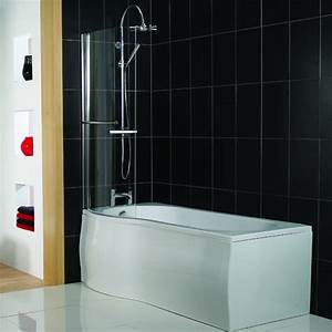 P shaped shower bath from victoria plumb shower baths for Victoria plumb bathrooms uk