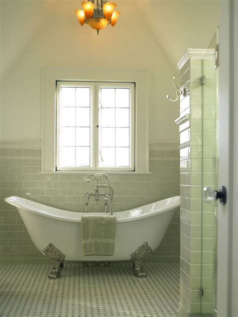green subway tile traditional bathroom goforth gill