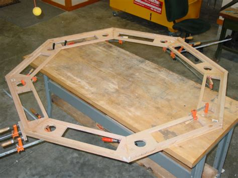 octagon game table plans how to build an octagon poker table diy pinterest