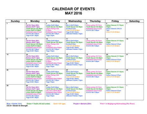 Calendar Of Events  Mfht Health Promotion