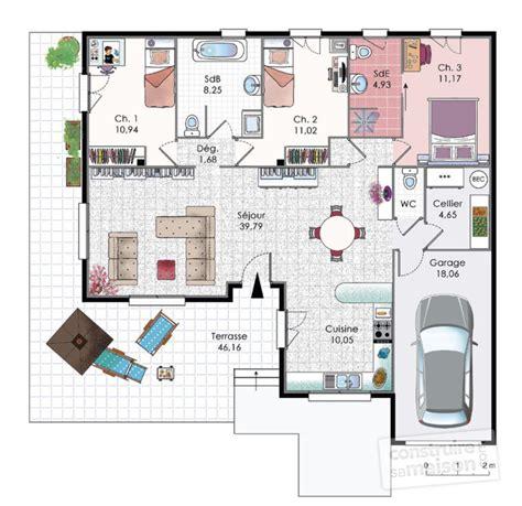 plan de maison 4 chambres plain pied gratuit finest plan maison plan maison gratuit plan maison