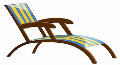 Chair Beach Clipart Lounge Chairs Transparent Clip
