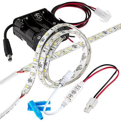 battery operated led lights with remote battery powered led light strips kit single color 2