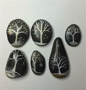 Galet De Decoration : d coration galets peints acrylique arbre by ~ Premium-room.com Idées de Décoration