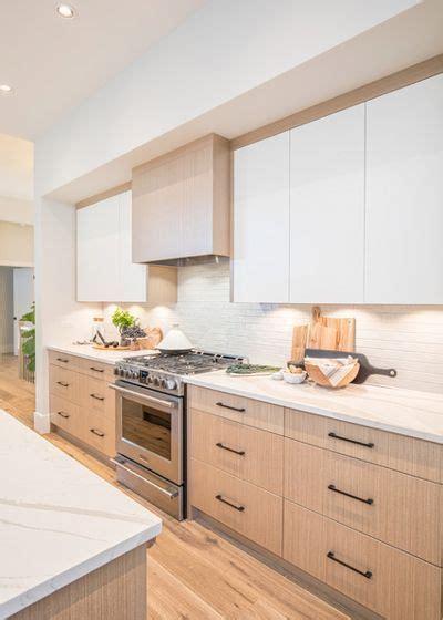 integrated  cabinet lighting white oak  white