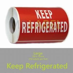 keep refrigerated parcel packing labels large 108 x 79 With keep refrigerated label